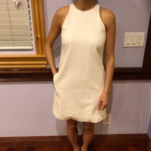 Zara white racer back shift dress pockets